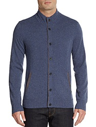 Cashmere Saks Fifth Avenue Cashmere Button Front Cardigan Selvage