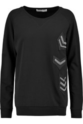 Balmain Embellished Cotton Jersey Sweatshirt Black