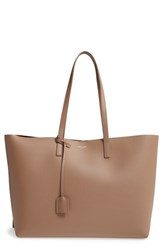 Saint Laurent 'Shopping' Leather Tote Brown Taupe