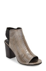 Kenneth Cole Reaction Women's Reaction Kenneth Cole 'Fridah Fly' Open Toe Bootie Pewter Leather