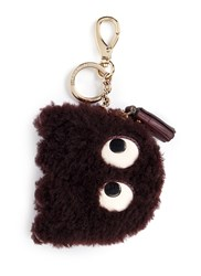 Anya Hindmarch 'Ghost' Shearling Coin Pouch Red