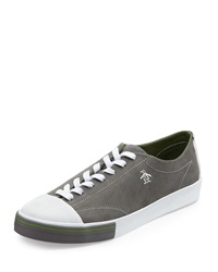 Penguin Tobaggan Perforated Suede Cap Toe Sneaker Light Gray