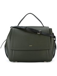 Dkny Front Flap Tote Green