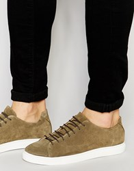 Selected Homme Dylan Suede Trainers Green