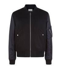 Sandro Battle Bomber Jacket Male Black