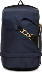 Wooyoungmi Navy Buckle Backpack