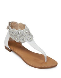 Vince Camuto Mandisa Leather Beaded Sandals White