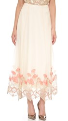 Marchesa Embroidered Skirt Ivory