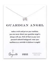 Dogeared Angel Wing Charm Necklace Silver