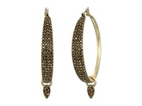 Lucky Brand Pave Dangle Hoop Earrings Gold Earring