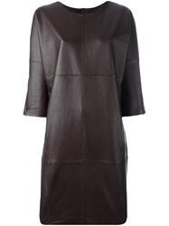 Closed Leather Dress Brown
