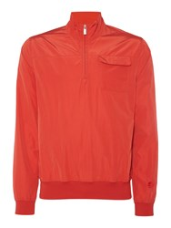Perry Ellis Zip Through Neck Light Weight Jacket Red