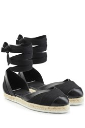 Pierre Hardy Leather And Fabric Espadrilles Black