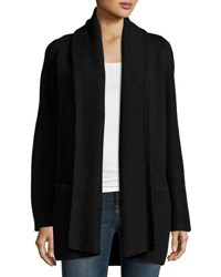 Vince Open Front Car Coat Sweater Charcoal
