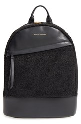 Want Les Essentiels 'Piper' Wool And Leather Backpack Black Carbon Boucle Jet Black