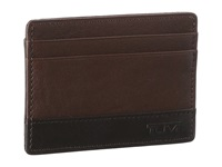 Tumi Rivington Slim Card Case Id Brown Credit Card Wallet