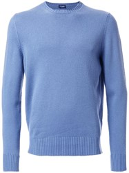 Drumohr Crew Neck Jumper Blue