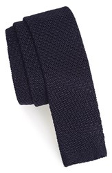 The Kooples Men's Knit Silk Tie Navy