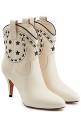 Marc Jacobs Georgia Leather Cowboy Boots White