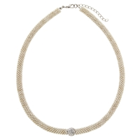 John Lewis Effervescent Glass Necklace Silver