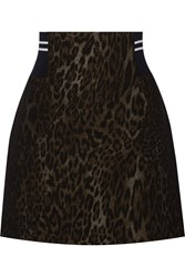 Sandro Jaisy Leopard Print Cotton Blend Mini Skirt Animal Print