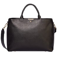 Modalu Bess Leather Large Tote Bag Black