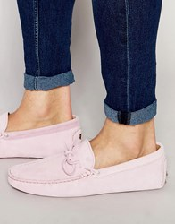 Bobbies Le Magnifique Suede Driving Shoe Pink