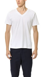 Splendid Mills Pigment Dyed V Neck Tee Off White