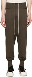 Rick Owens Grey Wool Melton Lounge Pants