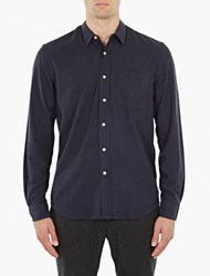 Our Legacy Navy Raw Silk Shirt
