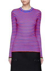 Proenza Schouler Irregular Stripe Silk Cashmere Sweater Multi Colour