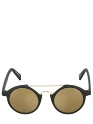 Italia Independent Rounded Flat Acetate Sunglasses