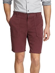 Vince Brushed Twill Solid Shorts Chianti