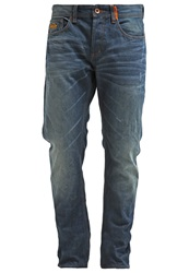 Superdry Copperfill Relaxed Fit Jeans Riveter Vintage Dark Blue