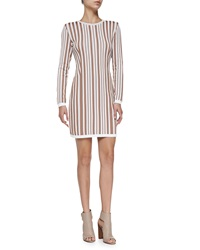 O'2nd Hatu Long Sleeve Striped Fitted Dress