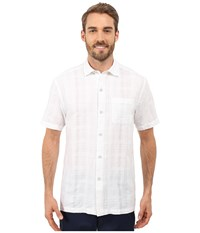 Tommy Bahama Squarely There Camp Shirt White Men's Clothing