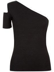 Jaeger Cut Out Knitted Top Black