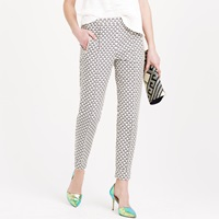 J.Crew Collection Ankle Zip Pant In Jacquard