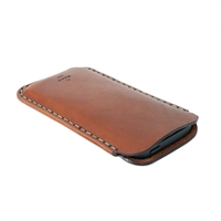 Iphone Sleeve In Saddle Tan Horween Leather Made In Usa
