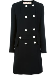 Marni Belted Double Breasted Coat Black