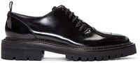 Yang Li Black Patent Asymmetric Oxfords