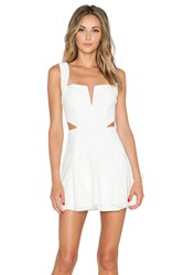 Nbd X Revolve Sway Me Fit And Flare Dress White