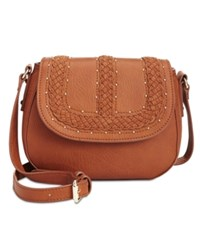 Inc International Concepts Grayson Saddle Bag Only At Macy's Cognac