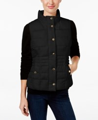 Charter Club Petite Quilted Vest Only At Macy's Deep Black
