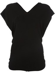 Lost And Found Ria Dunn Sleeveless V Neck T Shirt Black