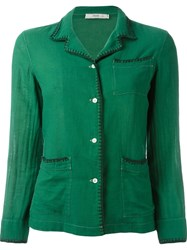 Prada Vintage Stitch Trim Jacket Green