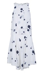 Tibi Cluster Dot Print Double Layer Dress