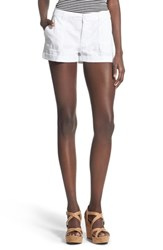 Junior Women's Bp. Cotton Cargo Shorts White