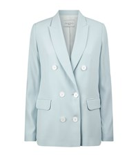 Sandro Velia Double Breasted Blazer Female Sky