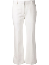 3.1 Phillip Lim Cropped Flared Trousers White